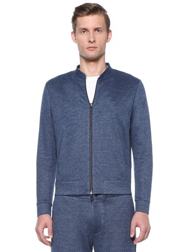Harris Wharf London Sweatshirt Mavi